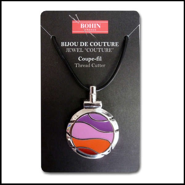 Bohin couture thread cutter pendant violet wave sassy 2 stitch bohin couture thread cutter pendant violet wave mozeypictures Gallery