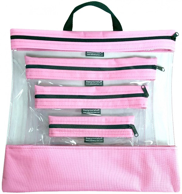 """See Your Stuff Bag"" 4 Piece Set – Color Choice"