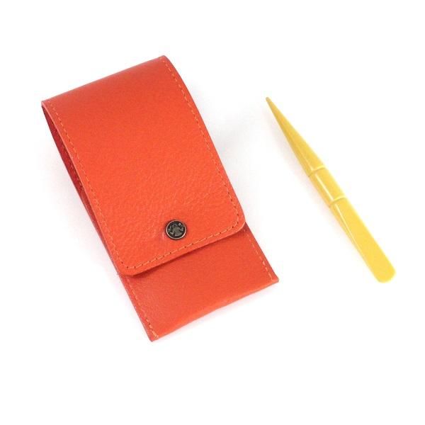 "Double Pocket DOVO Genuine Leather Scissor Sheath for 4/"" Embroidery Scissors"